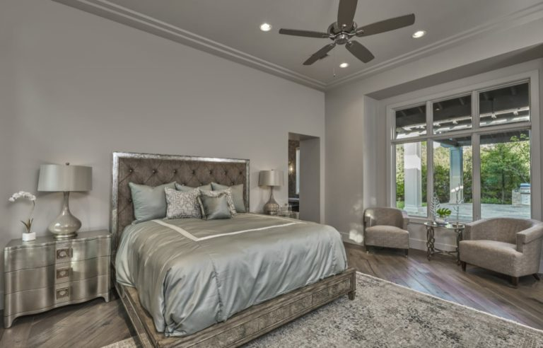large bed in a master bedroom