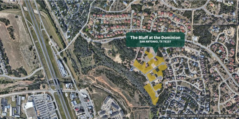 Bluff at Dominion available lots